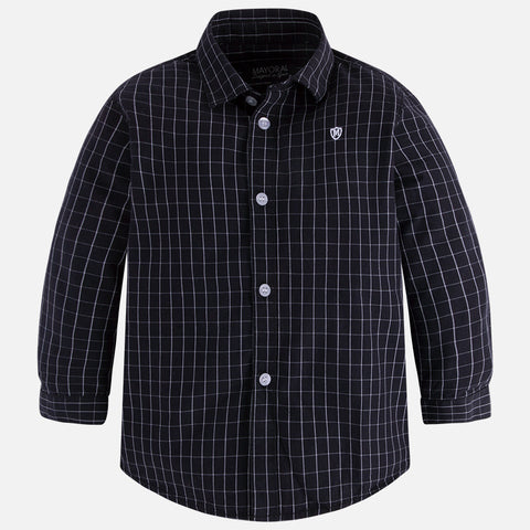 Mayoral 4153 Black w/White Squares, Button Up
