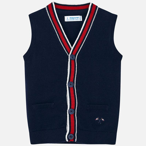 4320 Mayoral Navy Knitted Vest
