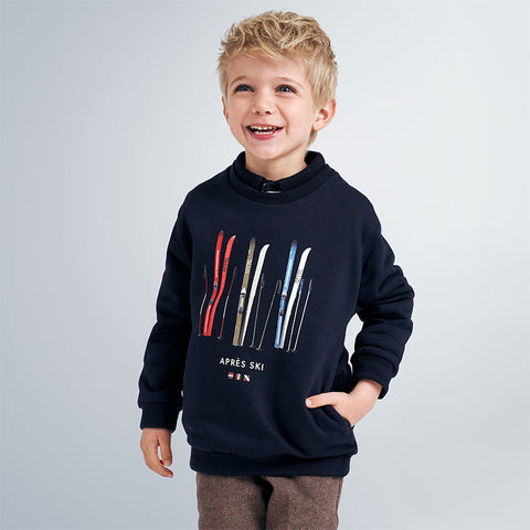 4458 Mayoral Boys Sweatshirt w/Pockets, Apres Ski Navy