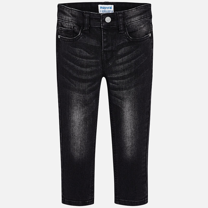 4526 Mayoral Boys Classic 5 pocket Black Jeans