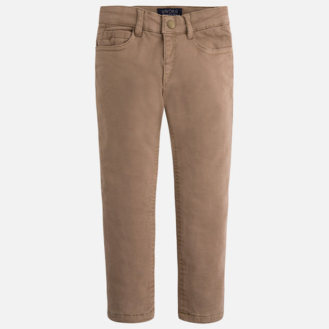 Mayoral, 4535, 5 Pocket Slim Fit, Textured & Lined Pants, Camel