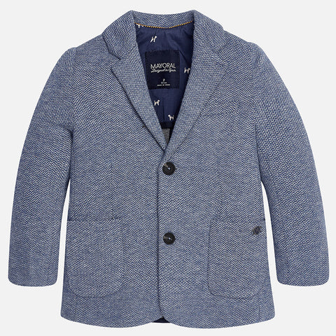 Mayoral 4445 Blue Soft Knit 2 Button Sport Coat