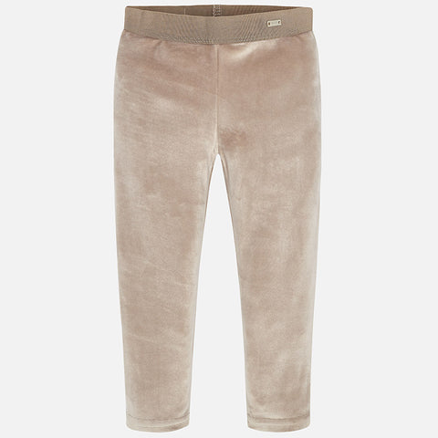 4700 Mayoral Girls Velvet Leggings, Champagne