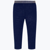 4705 mayoral super comfortable navy leggings with gold glitter