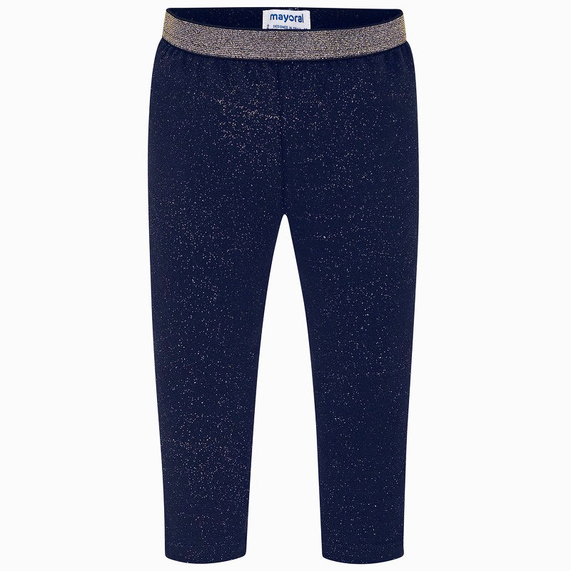 4705 mayoral navy leggings with gold glitter