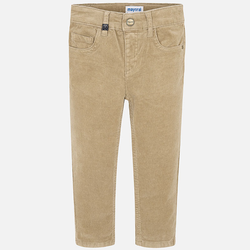 537 Mayoral Boys Thin Corduroy Trouser Pants, Tan
