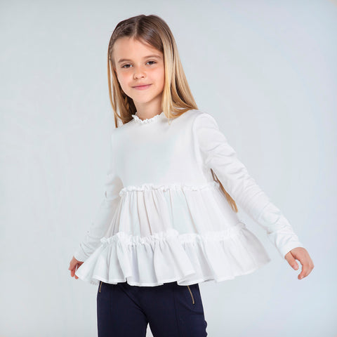7064 Mayoral Hi-Collar Swing Top