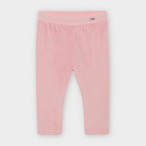 727 Plush Velvet Leggings, Blush Pink