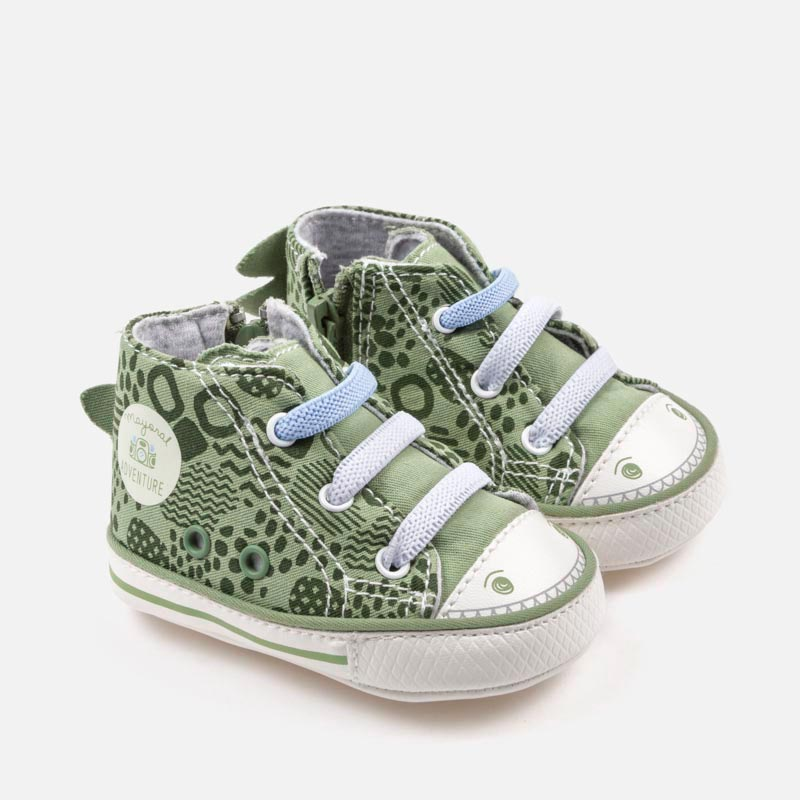 Unisex Dinosaur Motif 3D soft soled sneaker shoes for boys and girls, green, mayoral 9018