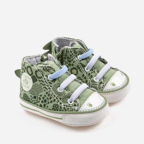 9018 Unisex Baby Soft Soled 3D Dinosaur Sneaker Shoes, Green