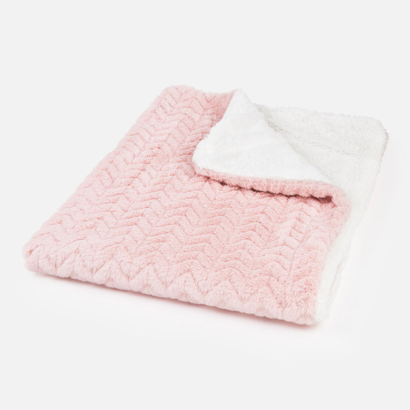 faux fur baby blanket, soft pink plush kids blanket, Mayoral Spain Layette Baby Gifts, 9023