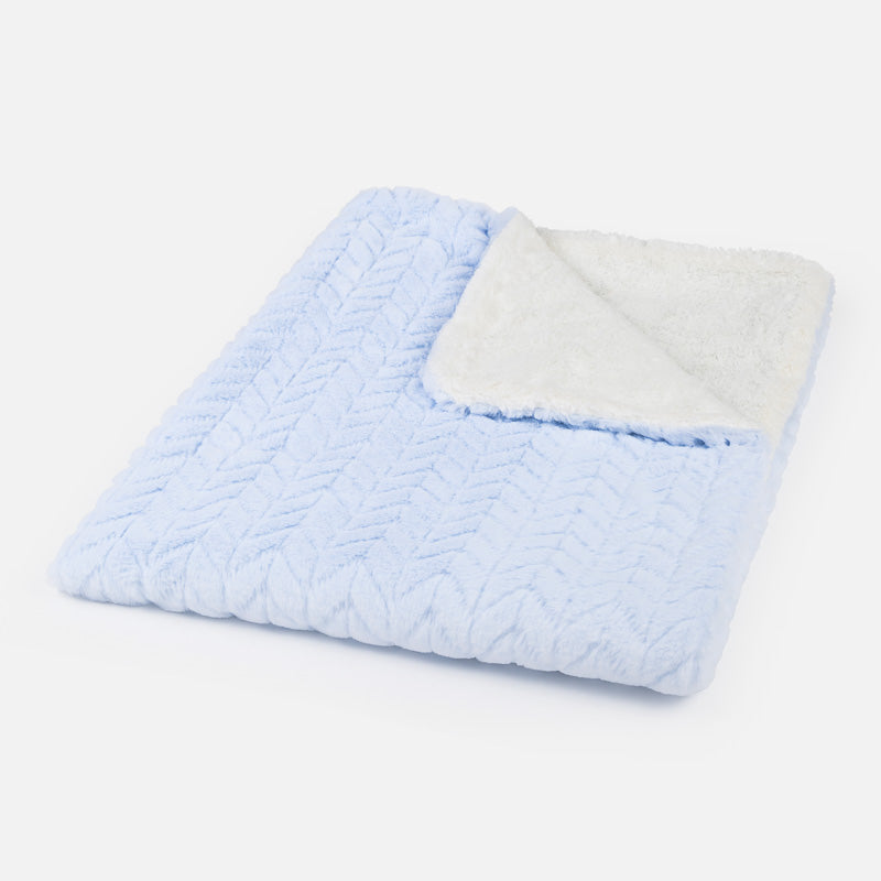 faux fur baby blanket, baby blue plush kids blanket, Mayoral Spain Layette Baby Gifts, 9023