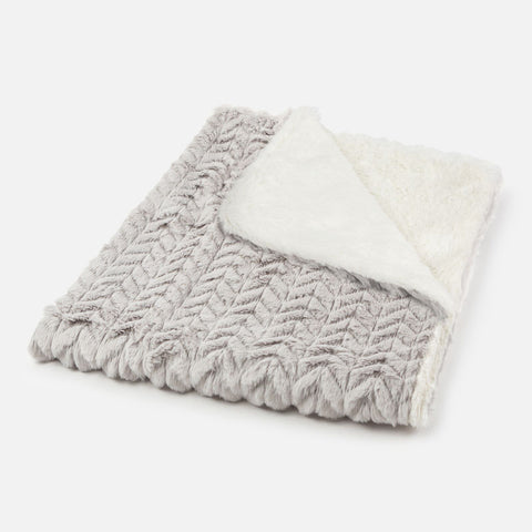 9023 Mayoral Faux Fur Blanket - Modern Grey