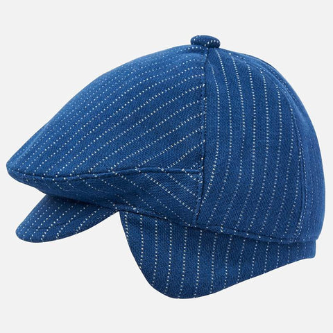 9191 Mayoral Boys Blue Knitted Drivers/Paperboy Cap