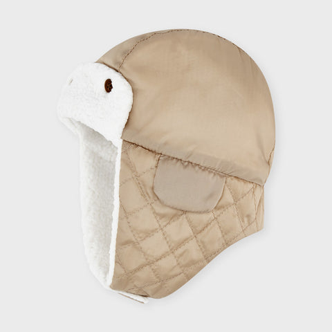 9321 Mayoral Baby Quilted Aviator Hat - Hazelnut Tan, Unisex