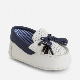 Mayoral 9487 Moccasins, Boat Shoes, White/Navy