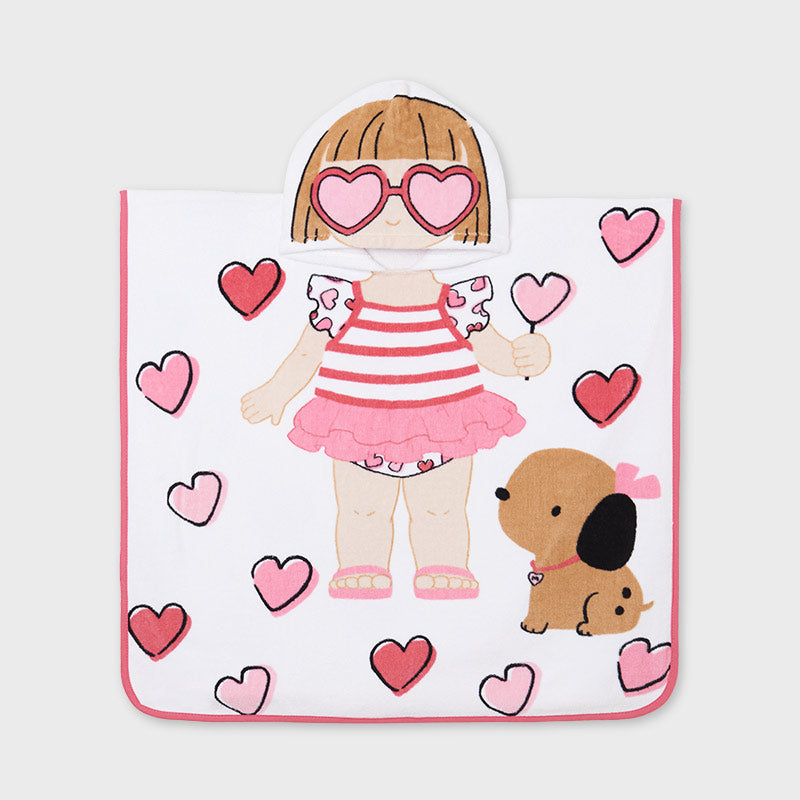 9917 Mayoral Hooded Towel - Puppy Love