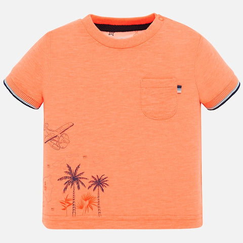 1050 Mayoral Boys Summer Graphic Short Sleeve T-Shirt, Mango Palms