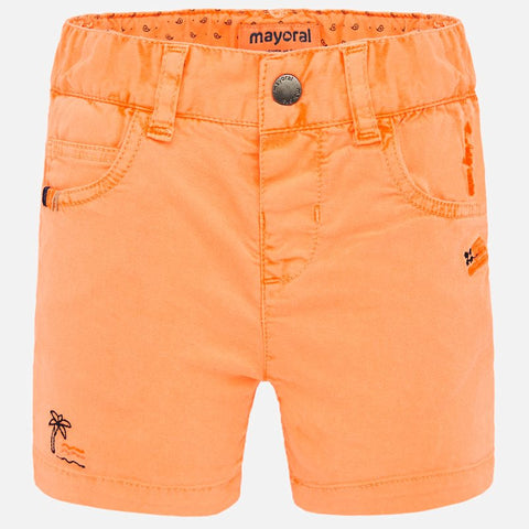 1291 Mayoral Boys Bermuda Shorts, Neon Mango