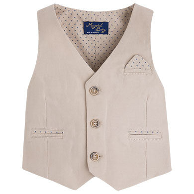 Mayoral, 1416, Tan Linen Vest