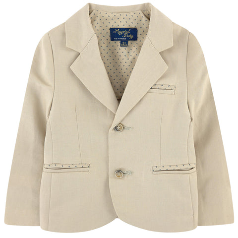 Mayoral, 1424, Tan Linen Blazer