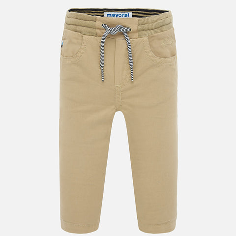 1547 Mayoral Boys Sport Twill Pants, Tan