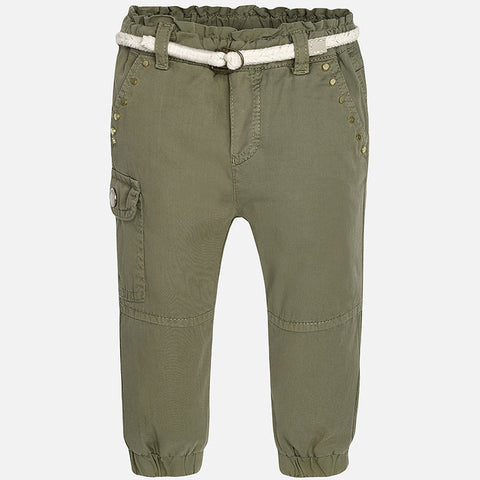 Mayoral 1549, Army Scrunch Rivetted Cargo Pants w/Braided Belt