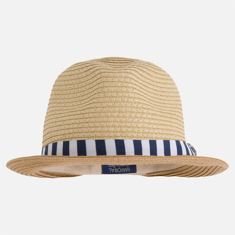 Hat, Unisex Fedora, - Straw, Navy/White, Mayoral 10170