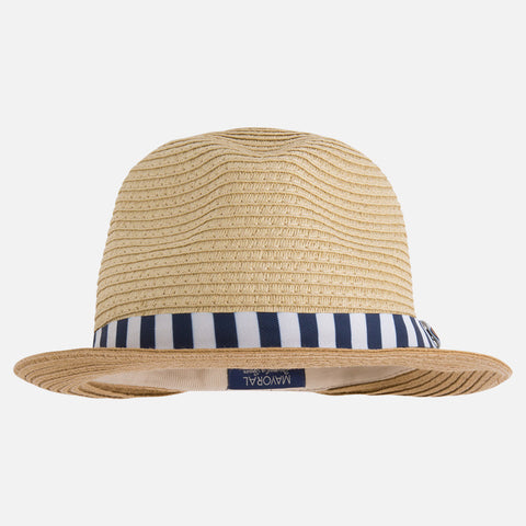 Fedora, Unisex - Straw, Navy/White, Mayoral 10170