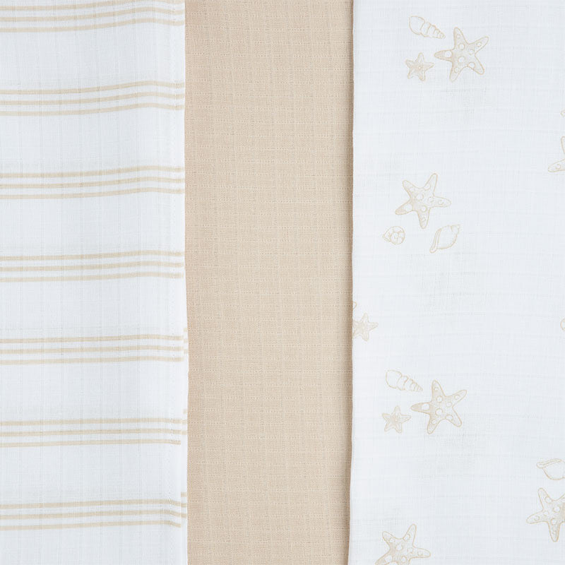 Mayoral, 19145, Muslin Swaddle Blanket Set - Latte (CLICK FOR MORE COLOR OPTIONS)