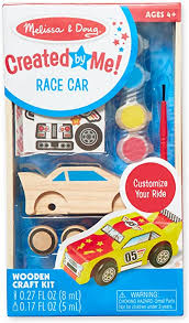 Melissa & Doug Eco-Wooden Toy Race Car - DIY Design Your Own