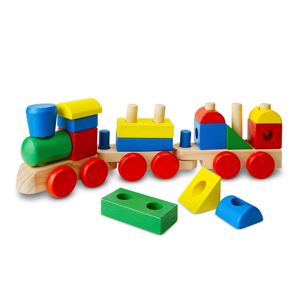 Melissa & Doug, Eco-Wooden Toys - 18PC Wooden Stacking Sorter Set