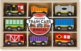 Wooden train cars, inside package, wooden toy, 8 pc, eco-friendly