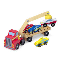 Magnetic Car loader and truck, eco-friendly wooden toys, travel toys