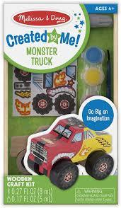 Created by Me Monster Truck, inside package, wooden toy, diy kids creative toys