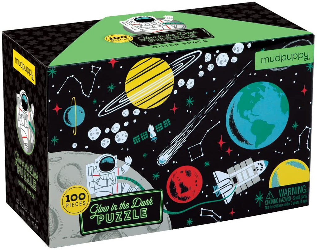 Mudpuppy Glow-in-the-Dark 100pc Puzzle, Outer Space