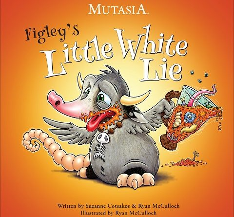 Autographed Copy - Children's Book - Mutasia, Figley's Little White Lie