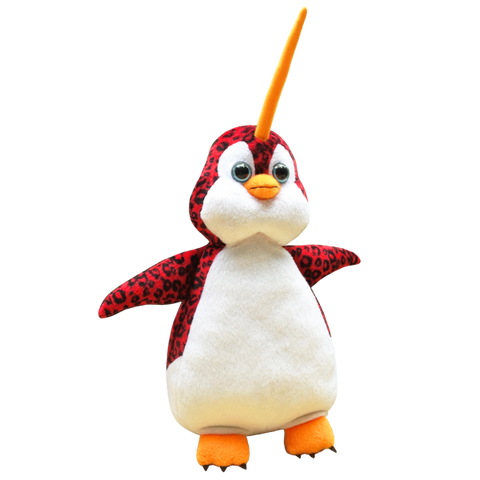 Mutasia Plushie - Billie the Penquin, Leopard, Narwhal Soft Toy