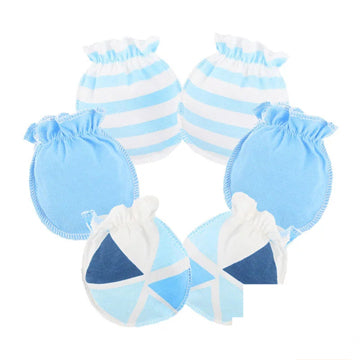 Newborn Essentials, No Scratch Newborn Mittens, Powder Blue,2 Pairs