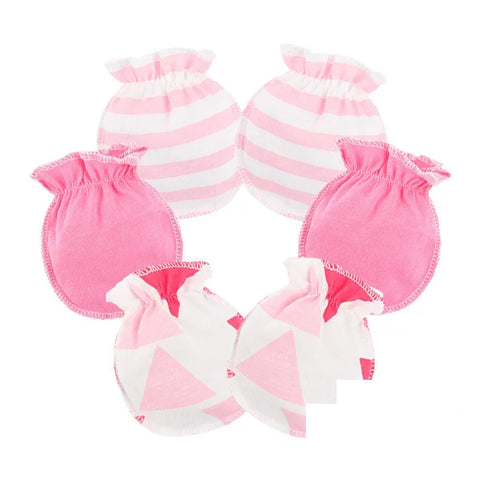 Newborn Essentials, No Scratch Newborn Mittens, Pink, 2 Pairs