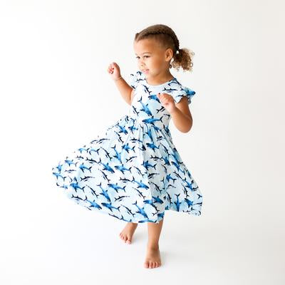 Posh Peanut Bamboo Eco Lux Twirl Dress, Colton Shark