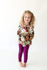 Posh Peanut Bamboo Lux Peplum Top & Leggings 2 PC Set - Corinne Floral
