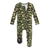 Posh Peanut Bamboo Zippered Footie, Cadet Camo