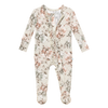 Posh Peanut Bamboo Ruffled Zippered Footie - Daniella Floral