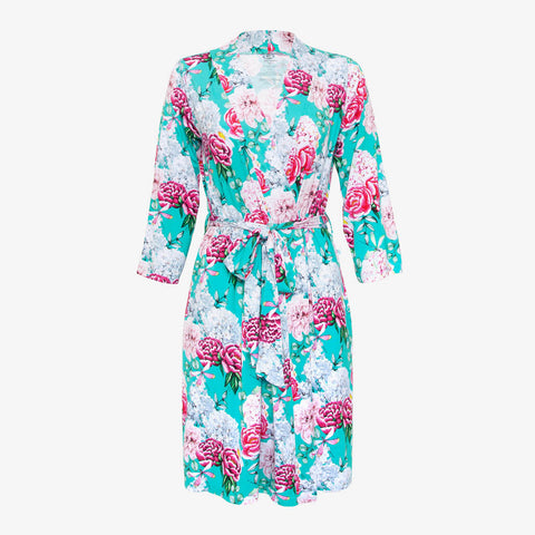 Posh Peanut Bamboo Women's Robe - Eloise Floral/Dragonfly