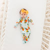 Posh Peanut Bamboo Zippered Sleep Gown - Mirabella Lemons/Oranges