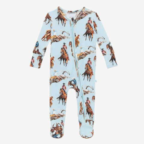 Posh Peanut Bamboo Zippered Footie -  Brody