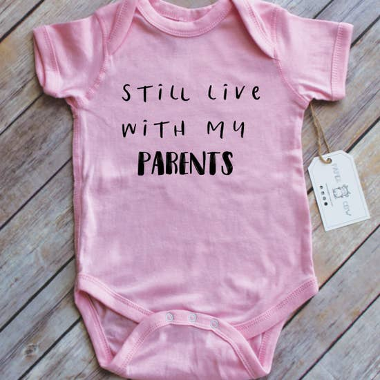 Still Live With My Parents - S/S Bodysuit, Pink