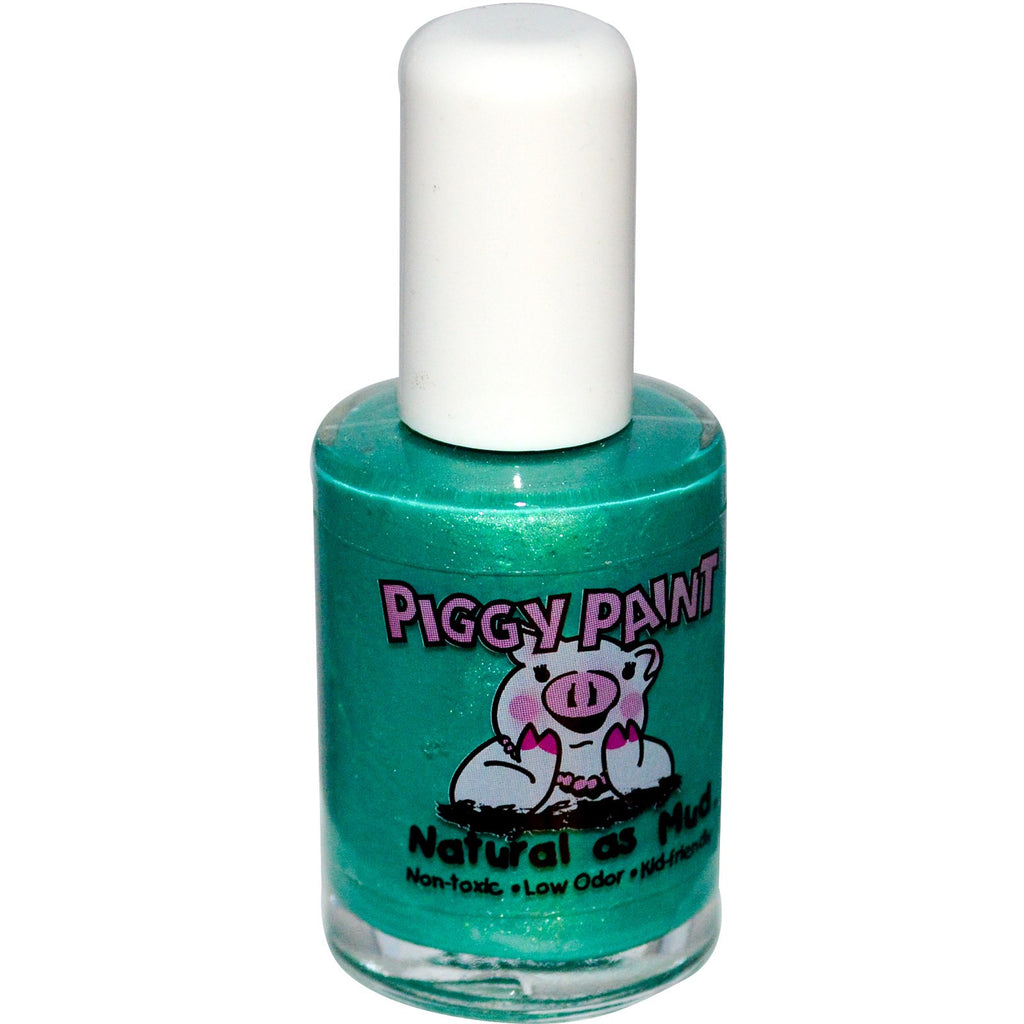 Piggy Paints - Non-toxic, Natural, Kid-safe Nail Polish - Ice Cream Dream Green