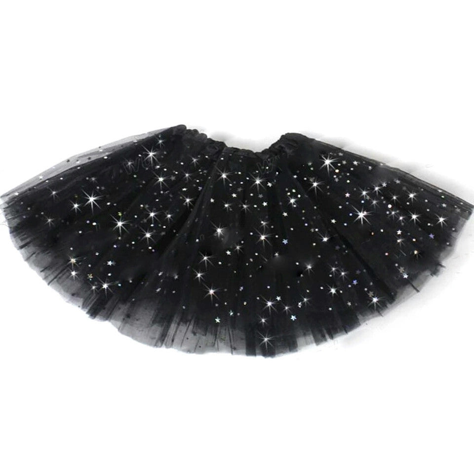 Dress-up, Tulle Star TuTu, 1-8 years, Black